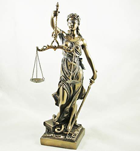 La Justicia, Frau mit Waage der Gerechtigkeit Statue bronziert Figur Lawyer,