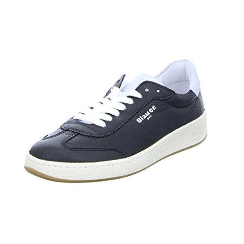 Blauer Damen Sneaker 8SOLYMPIA02 Schnürer Leder Schwarz Größe 39 EU