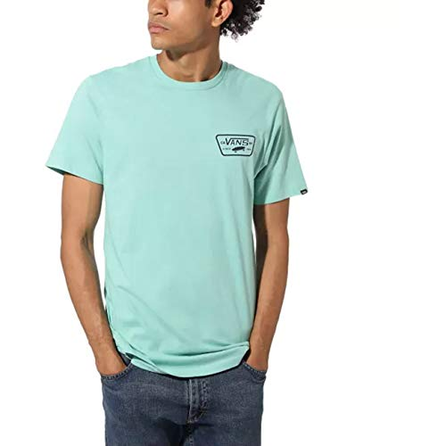 Vans Full Patch Back SS T-Shirt, Verde (Dusty Jade Green/Dress Blues Yjc), Medium Uomo