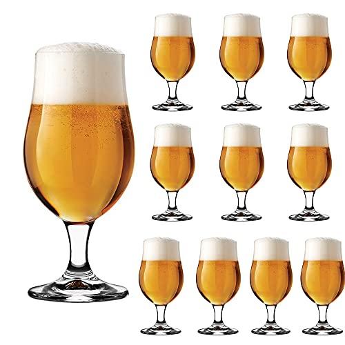 Set de 12 Copas de Cerveza, Vasos para Cerveza de Cristal, 37CL...