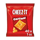 Cheez-It Original Baked Snack Cheese Crackers - Single Serve School Lunch Snacks (Case contains 40 Count)