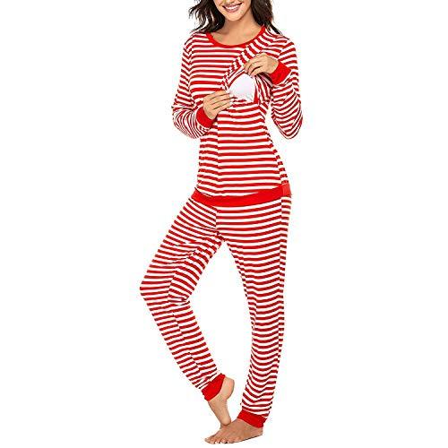 XYSQWZ Conjunto De Pijama De Rayas De Maternidad para Mujer,...