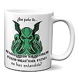 Planetacase Taza Desayuno Cthulhu Humor Negro Lovecraft Regalo Original Ceramica 330 mL - Tazas Originales para Regalar