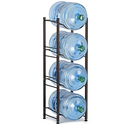 LIANTRAL Wasserkrug Halter für Wasserflaschen, 4 Ebenen, Dunkelbraun