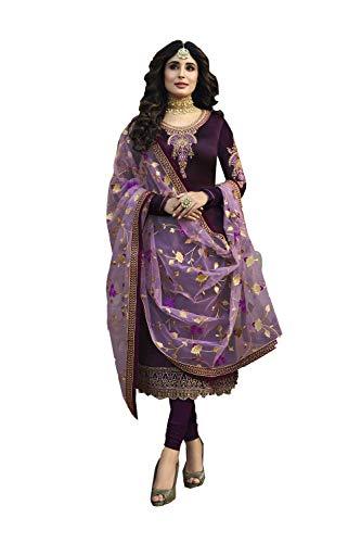 PinkCityCreations Indian Women Designer Partywear Ethnic Traditonal Dark Purple Salwar Kameez.