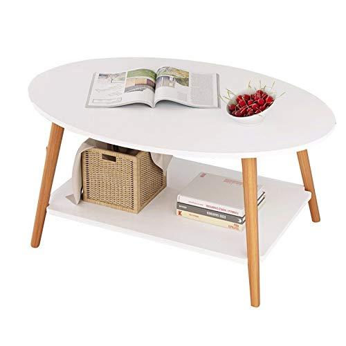 Saladplates-LXM Ovaal 2-Tier salontafel gemaakt van hout en MDF hout, diner tafels voor woonkamer, slaapkamer of om alle items weer te geven