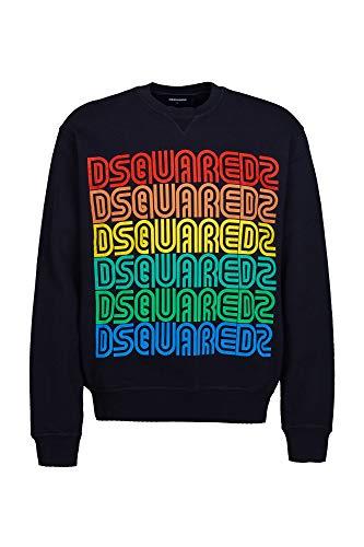 DSQUARED2 Multicolor Vintage Sweatshirt Black Extra Large