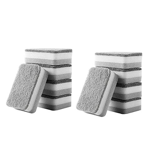 DSISI Esponja descontaminante de Doble Cara, paño de Cocina, Estropajo doméstico Esponjas para Lavar los Platos Esponja para Limpiar la Olla Espesante, Limpieza Profunda