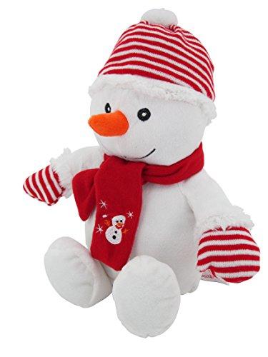 Sweety Toys 4720 Schneemann rot Weihnachtsmann 42 cm, supersüss mit Bommelmütze und Schal,Plüschbär Teddy Teddybär Sweety-Toys