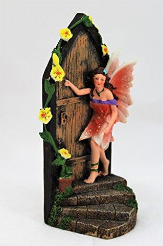 Large figurine ornementale de jardin représentant une porte de fée magique, de 19 cm de haut