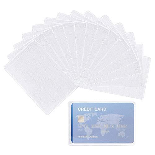 JZZJ 100 Pezzi Plastica Porta Badge Carta di Credito Biglietto da Visita Verticale Protettore ID Glassato con Maniche