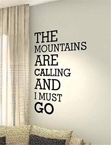 wandaufkleber fliesen Die Berge rufen und ich muss gehen