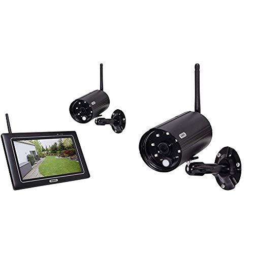 Abus Security-Center OneLook PPDF16000 - Monitor + Kamera(s) - drahtlos, PPDF16000 & OneLook Außenkamera PPDF14520 | Videoüberwachung | Funk Nachtsicht | IP66 1080p Full HD | 80024