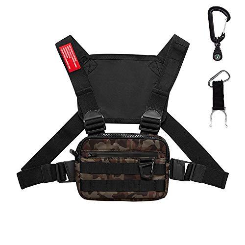 Keypower Direct Taktischer Lauf-Rucksack, Weste, Handy und Zubehör, Halterung, leicht, für Walking, Radfahren (Camouflage)