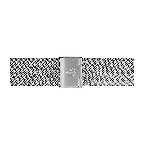 PAUL HEWITT Uhrenarmband aus Edelstahl Mesh oder Metall in 20 mm (Standard, Silber)