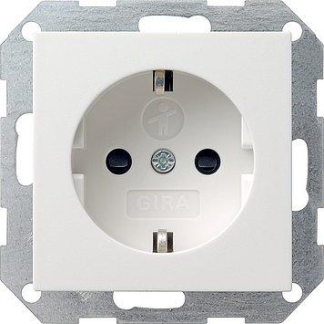 GIRA. stopcontact kinderbeveiliging met geïntegreerde verhoogde aanraakbescherming systeem 55 zuiver wit gl.
