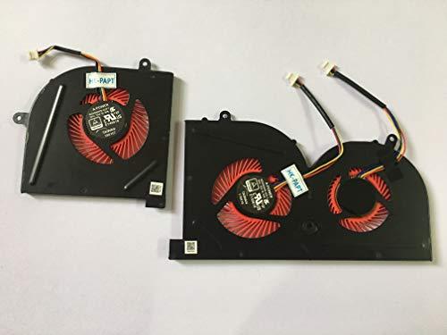 HK-part Fan Replacement for MSI GS63VR Series GS63VR 6RF GS63VR 7RF GS63VR Stealth Pro MS-16K2 MS-17B1 BS5005HS-U2L1 BS5005HS-U2F1 Gpu CPU Cooling Fan