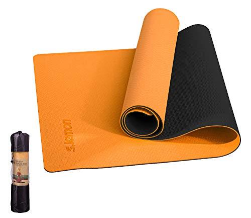 s.lemon Esterilla Yoga con Bolsa,Antideslizante TPE Alfombrilla Pilates Deporte Yoga Esterillas 183 x 61 x 0.6 CM