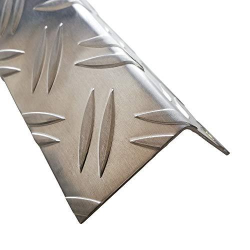Aluminium Riffelblech Winkelprofil 2 Meter Alu Winkel Kantenschutz (40 x 40 mm)