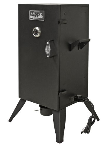 Masterbuilt Smoke Hollow 30162E 30-Inch Electric Smoker with Adjustable Temperature Control, Black