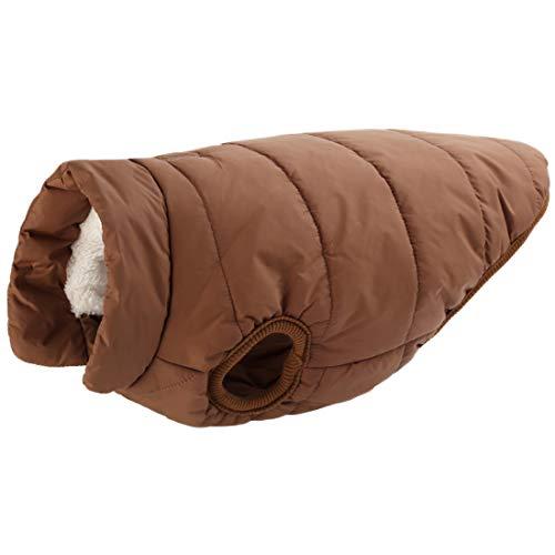 Fleece winter jas voor kleine middelgrote grote honden wollen jas Gilet Warme Thermal Coat Weste Verdikte huisdier kleding Comfortabele vasten Dicker Hondenmantel Pullover, X-Small, bruin