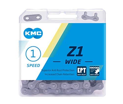 KMC Unisex– Erwachsene Z1 Wide EPT 1-Fach Kette 1/2