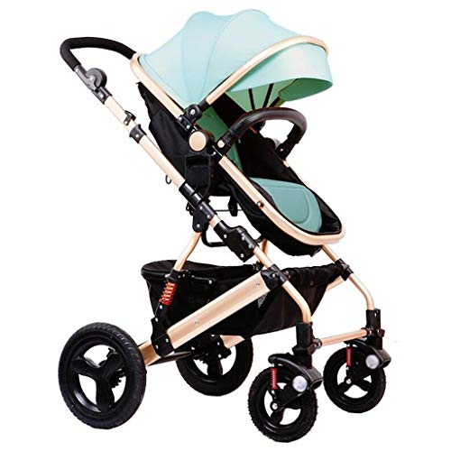 Baby Stroller for Newborn and Toddler Convertible Stroller Compact Single Baby Carriage Toddler Seat Stroller Luxury Pram Stroller add Cup Holder Footmuff and Stroller Tray