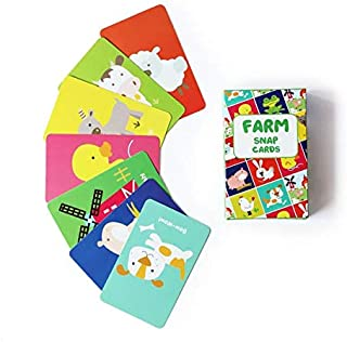 Shumee Farm Glen Snap Card Game for Toddlers, Kids, Preschoolers| Fun Card Game for Families, Birthday Gifts and Party Favors| 100% Safe, Natural & Eco-Friendly Learning Educational Toy|3 Years +