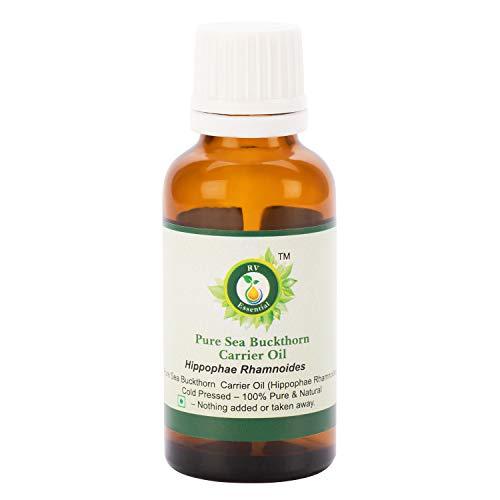 Espino amarillo aceite   Hippophae rhamnoides   Espino amarillo aceite semilla   Para pelo   Para cuerpo   100% natural puro   Prensado en frío   Sea Buckthorn Oil  30ml   1.01oz By R V Essential