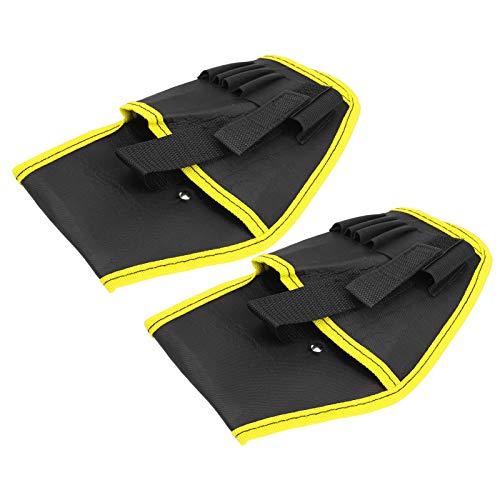 Kadimendium Tragbare elektrische Bohrwerkzeugtasche Bohrwerkzeugtasche Verstellbarer Taillengürtel zur Aufbewahrung von Bohrern und Befestigungselementen(Yellow Edge)