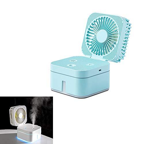 BOENTA Handheld Fan With Water Mist Spray Handheld Misting Fan Hand Held Battery Operated Fan Face Fan Handheld Hand Held Electric Fan blue