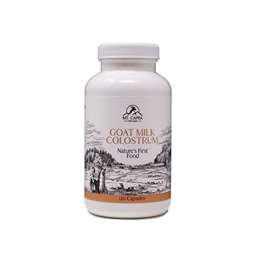 MT. CAPRA SINCE 1928 Goat Milk Colostrum | for a Healthy Immune System, Gut, and Athletic Performance, Grass-Fed, High in Immunoglobulins - 120 Capsules (2900 mg per Serving)