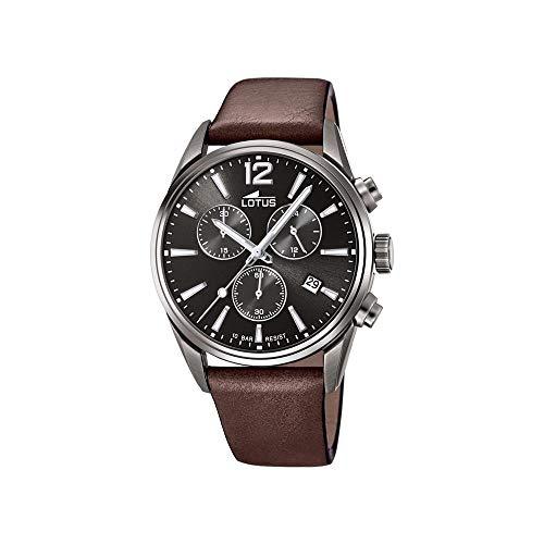 Lotus Herren Chronograph Quarz Uhr mit Leder Armband 18683/1