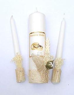 VELAS PINSART Velas Ceremonia de Boda-blanco