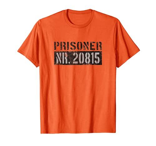 Prison - Disfraz de prisionero naranja para carnaval Camiseta