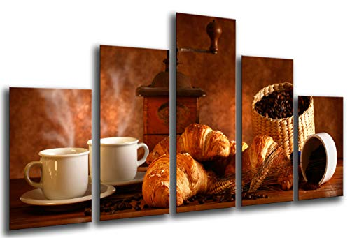 Cuadro Fotográfico Cafe, Bar, Cafe, Cafeteria Tamaño total: 165 x 62 cm XXL