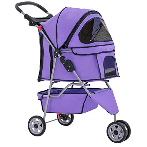 BestPet Purple Pet Stroller