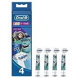 Oral-B Kids - Set de 4 Cepillos con Personaje Disney Pixar, 4 Unidades
