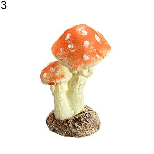 Sukisuki Champignon champignon champignon décoration miniature jardin terrarium maison de poupée, *, Couleur n°3