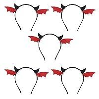 5個 カチューシャ フープバンド 悪魔の角 ヘアのフープ ヘアバンドヘアアク ヘッドドレスヘッドウェア 仮装 パーティー 発行ヘアリング