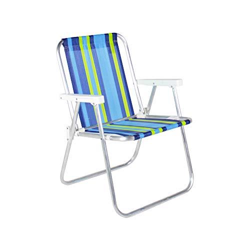 Cadeira de Praia Alta em Alumínio Bel Fix, Cores sortidas, 1 unidade