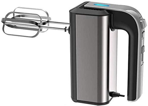 Speed Handmixer, 5 Speed Handheld Garde voor Bakken in de Keuken Taart Eiercrème Inclusief Kloppers en Deeghaken Metallic