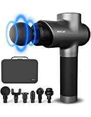 CINCOM Massage Gun, Deep Tissue Percussion Massage Gun Super Quiet Portable Body Muscle Massager for Relieving Pain, Soreness and Stiffness - 6 Sports Drill Heads and Carrying Case