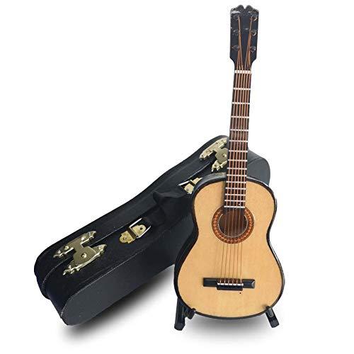 ALANO Mini Ornamento Musical Modelo de Guitarra clásica con Caja de Regalo Decoración de Regalo (G-16-S)