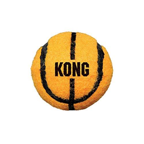 KONG – Sport Balls – Premium-Hundespielzeug, Quietschende Tennisbälle, Zahnschonend (Farbvar.) – Für Große Hunde