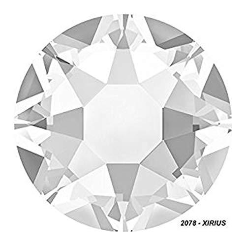 Panini Tessuti, Strass, Thermo-Sticker, Original Swarovski, Hotfix, Rhinestone, Strasssteine, Farben: Crystal und Crystal AB (Aurora Borealis) SS 20 100 Pezzi Crystal