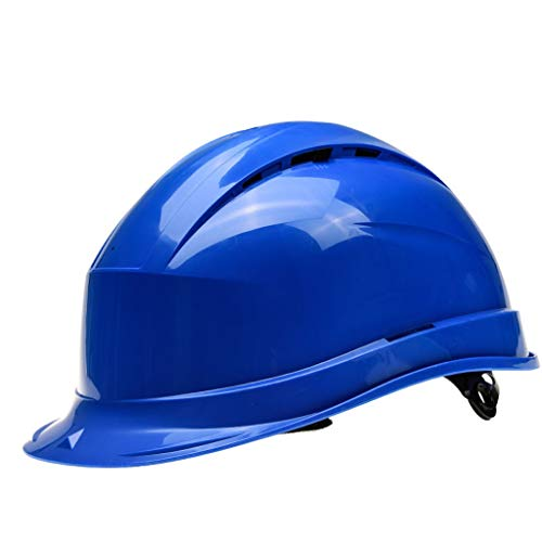 ZWSHOP Casco de Seguridad Ventilación Casquillo del emplazamiento de la Obra, Protección Solar Anti-roturas, Casquillo Protector (Color : Blue)