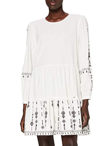Superdry Anisa Emb Dress Vestido Casual, White, XS (Talla del Fabricante:8) para Mujer
