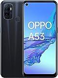 OPPO A53 - Smartphone 4G Débloqué - Téléphone Portable 64 Go - 4 Go de RAM - Écran Immersif 90 Hz - Batterie 5000 mAh - Triple Caméra - USB-C - Android 10 - Smartphone Débloqué - Noir Océan