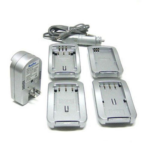 Maximal Power FC100 OLY Universal All In One Camera Travel Charger for Olympus Battery (Silver)